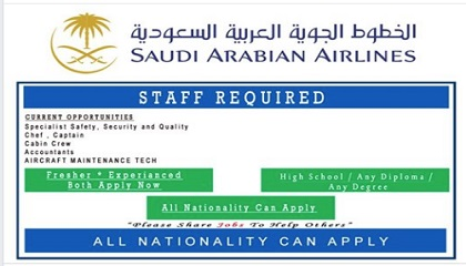 Photo of NEW JOBS @ SAUDI AIRLINES