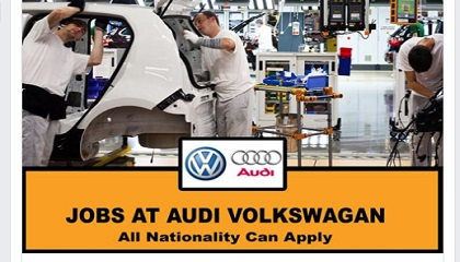 Photo of New Job Opening! AT AUDI VOLKSWAGAN