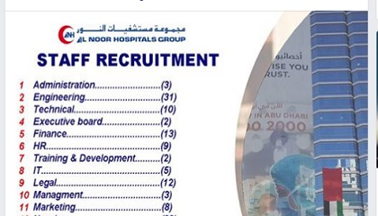 Photo of Many job vacancies @ AL NOOR HOSPITAL