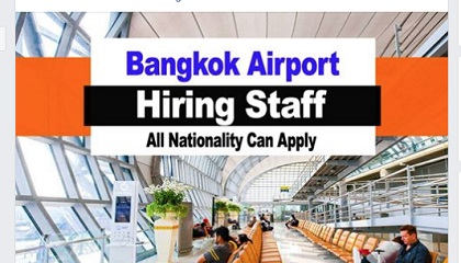 Photo of DIRECT STAFF RECRUITMENT!! AT BANGKOK AIRPORT