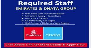 DIRECT STAFF RECRUITMENT – EMIRATES GROUP