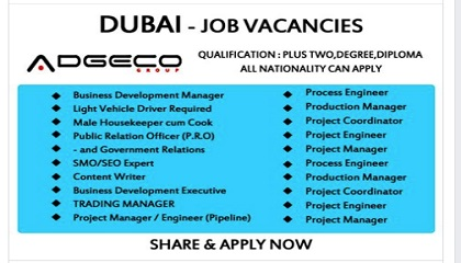 Photo of Job Openings- ADGECO