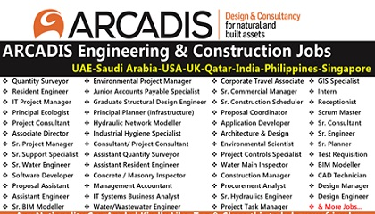 Photo of Job Vacancies at ARCADIS | UAE-Saudi Arabia-USA-UK-Qatar-India-Philippines