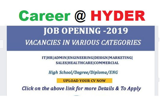 Photo of Jobs Vacancies @ HYDER
