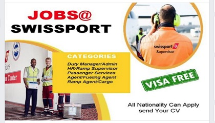 Photo of NEW JOB OPENINGS AT SWISSPORT!! SUBMIT CV NOW!!