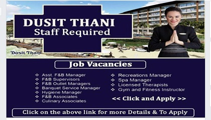 Photo of NEW JOBS AT DUSIT THANI