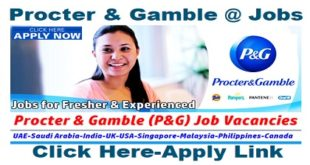 P&G Job Vacancies