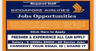 Staff Recruitment – SINGAPORE AIRLINES