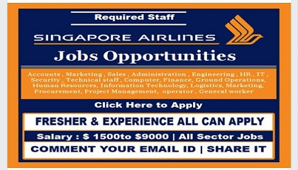 Photo of Staff Recruitment – SINGAPORE AIRLINES