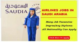 500+ Jobs @SAUDI ARABIAN AIRLINES 2019