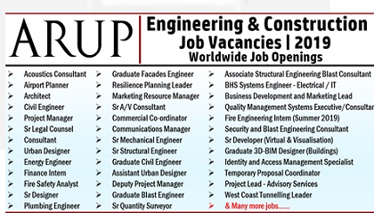 Photo of Arup Group Job Vacancies | UAE-USA-India-Singapore-UK-Canada
