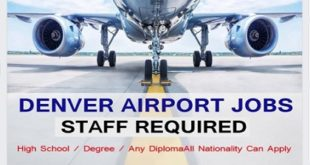 DENVER AIRPORT CAREERS-Direct Staff Recriutment!!!
