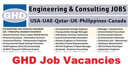 Photo of GHD Job Vacancies – USA-UAE-Qatar-UK-Philippines-Canada