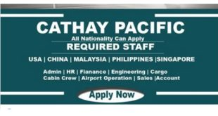 HIRING CATHAY PACIFIC CAREERS