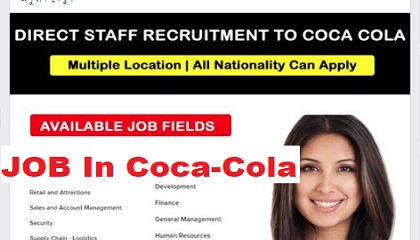 Photo of JOB VACANCIES @ Coca-Cola
