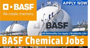 Job Vacancies at BASF Chemical 2019