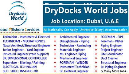 Photo of Job Vacancies at DryDocks World 2019 | Dubai | UAE