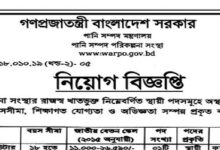Photo of Ministry of Water Resources Job Circular.