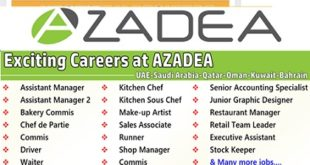 Urgent Staff Recruitment at Azadea Group