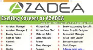 Urgent Staff Recruitment at Azadea Group