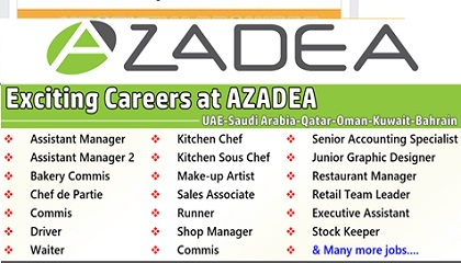 Photo of Urgent Staff Recruitment at Azadea Group | UAE-KSA-Qatar-Oman-Kuwait-Bahrain