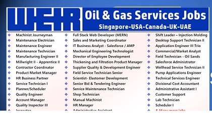 Photo of Weir Oil & Gas Job Vacancies 2019 | Canada-USA-UK-Singapore-UAE-Iraq-KSA