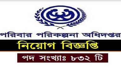 Photo of Directorate General of Family Planning published a Job Circular.