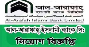 Al-Arafah Islami Bank Ltd Job Circular
