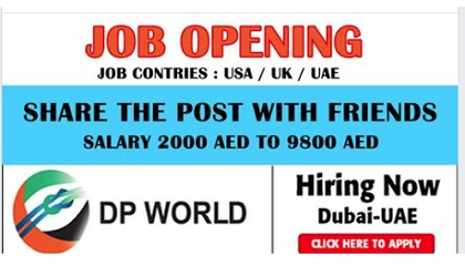 Photo of Many job Vacancies in DP World