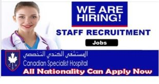 STAFF RECRUITMENT AT CANADIAN SPECIALIST HOSPITAL