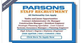 VARIOUS JOB VACANCIES IN PARSONS
