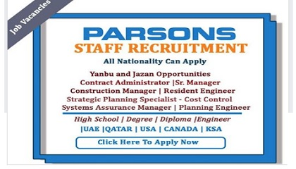 Photo of VARIOUS JOB VACANCIES IN PARSONS