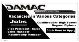 new jobs @ DAMAC