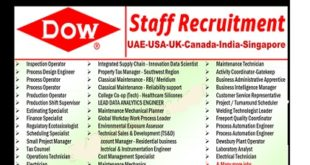 Dow Chemical Company Careers | UAE-USA-UK-Canada-India-Singapore