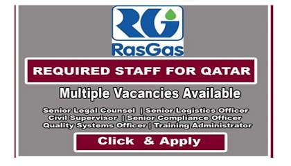 Photo of NEW JOB OPENINGS! RASGAS