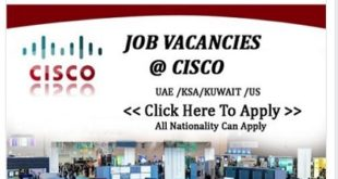Staff recruitment @ CISCO