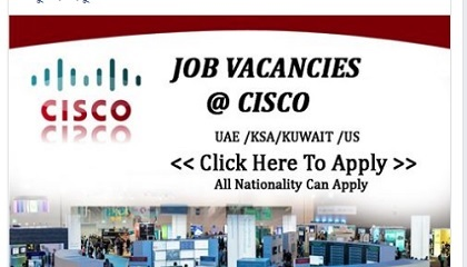 Photo of Staff recruitment @ CISCO | worldwide Recruitment