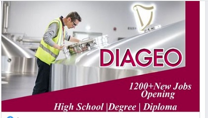 Photo of NEW JOBS AT DIAGEO