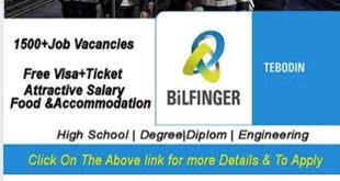 Job Vacancies BiLFINGER TEBODIN