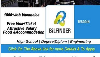 Photo of Job Vacancies BiLFINGER TEBODIN