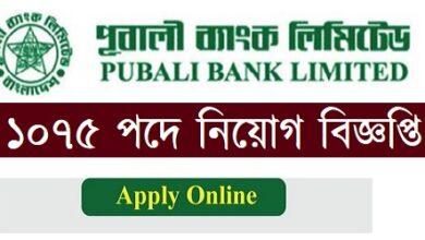 Photo of Pubali Bank Limited Job Circular 2021