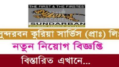 Photo of Sundarban Courier Service LtdJob Circular.