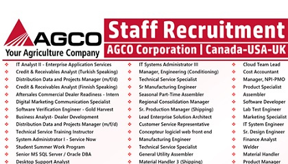 Photo of AGCO Corporation Job Vacancies | Canada-USA-UK-Germany
