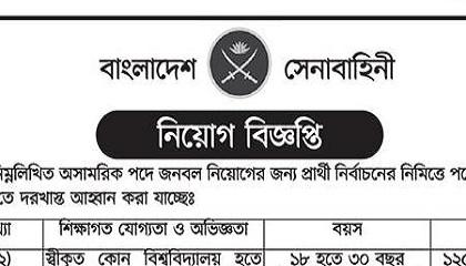 Photo of Bangladesh Army Job Circular 2021