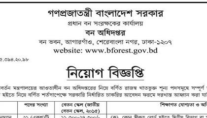Photo of Job Circular Forest Department