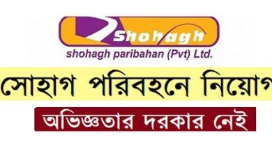 Photo of Shohagh Group Job Circular