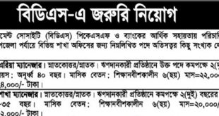 Bangladesh Development Society Job Circular