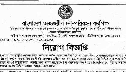 Photo of Bangladesh Inland Water Transport Authority (BIWTA) Job Circular