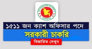 Officer (Cash) in jobs circular