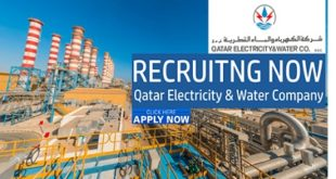 Qatar Electricity and Water Company (QEWC) Job Vacancies